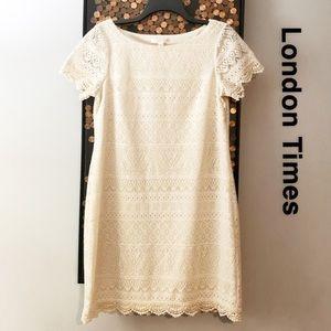 London Times Eyelet Dress